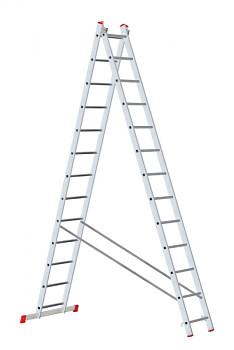 Hliníkový žebřík výsuvný dvoudílný 2x13 příček