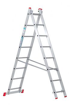 Hliníkový žebřík výsuvný dvoudílný 2x 8 příček