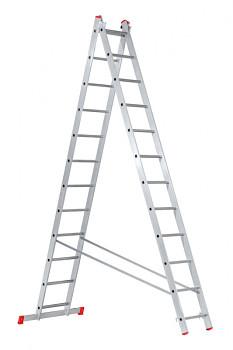 Hliníkový žebřík výsuvný dvoudílný 2x12 příček