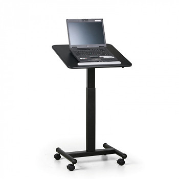 Pojízdný prezentační stolek černý