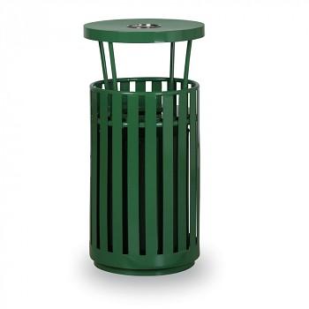 Venkovní odpadkový koš s popelníkem zelený