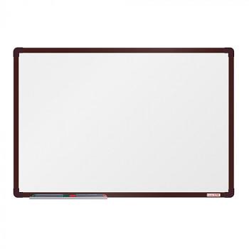 Magnetická tabule  900x 600 mm, hnědý rám