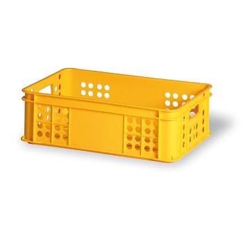 Plastová přepravka děrovaná žlutá I 600x400x200 mm