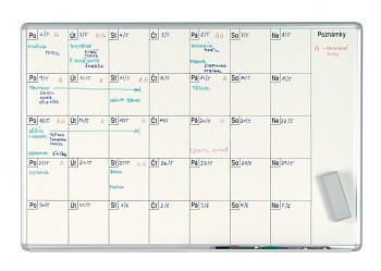 Magnetická plánovací tabule měsíční 1000x700 mm, lakovaná