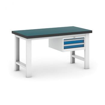 Dílenský stůl GB 500, 1500 mm + kontejner zásuvkový závěsný