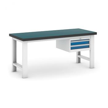 Dílenský stůl GB 500, 1800 mm + kontejner zásuvkový závěsný