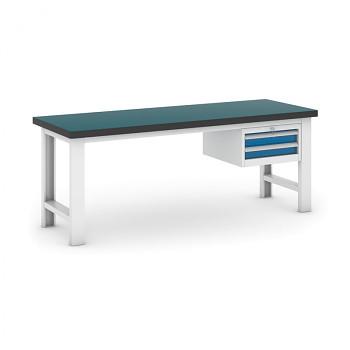 Dílenský stůl GB 500, 2100 mm + kontejner zásuvkový závěsný