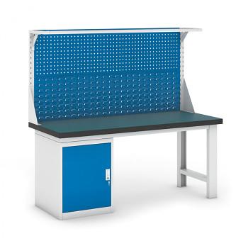 Dílenský stůl GB 500, 1800 mm + kontejner skříň podstavný + nástavba