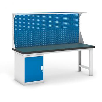 Dílenský stůl GB 500, 2100 mm + kontejner skříň podstavný + nástavba