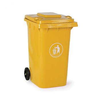 Plastová popelnice 240 litrů, žlutá