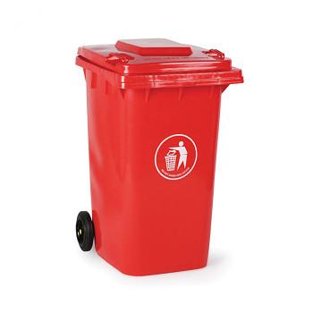 Plastová popelnice 240 litrů, červená