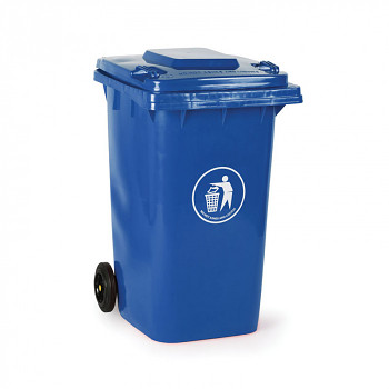 Plastová popelnice 240 litrů, modrá