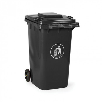 Plastová popelnice 240 litrů, tmavě šedá