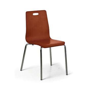 Dřevěná židle BETTA, ořech, balení 4 ks