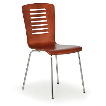Dřevěná židle LINES, ořech, balení 4 ks