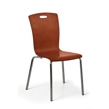 Dřevěná židle RITA, ořech, balení 4 ks
