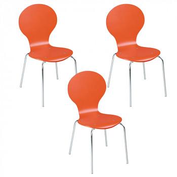 Dřevěná židle ORANGE, 4 ks
