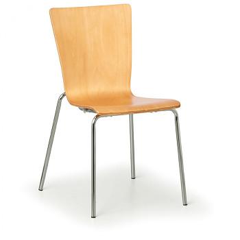 Dřevěná židle CALGARY, přírodní, 4 ks