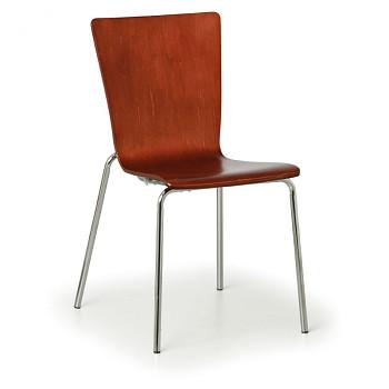 Dřevěná židle CALGARY, ořech 4 ks