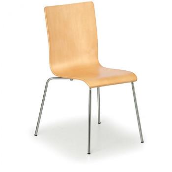 Dřevěná židle CLASSIC, přírodní 4 ks