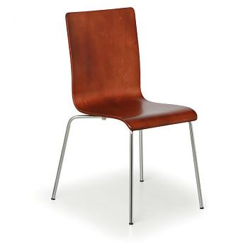 Dřevěná židle CLASSIC, ořech 4 ks