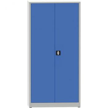 Kovová skříň 1950x 950x600 mm, šedá/modrá, 80 kg na polici, JUMBO