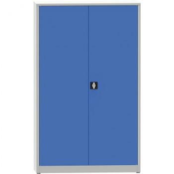 Kovová skříň 1950x1200x500 mm, šedá/modrá, 80 kg na polici, JUMBO
