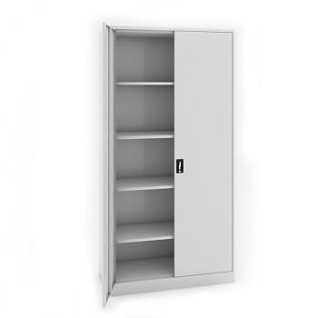 Kovová skříň 1950x1200x600 mm, šedá/šedá, 80 kg na polici, JUMBO