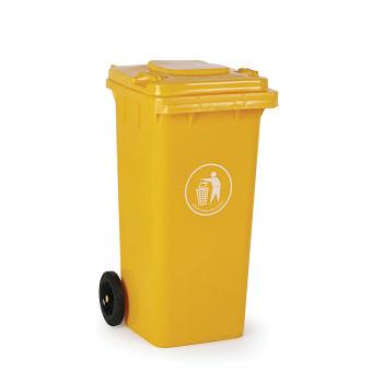 Plastová popelnice 120 litrů, žlutá