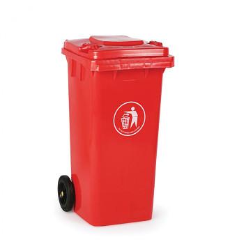 Plastová popelnice 120 litrů, červená