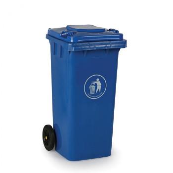 Plastová popelnice 120 litrů, modrá