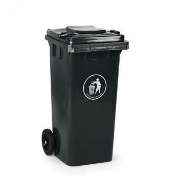 Plastová popelnice 120 litrů, tmavě šedá