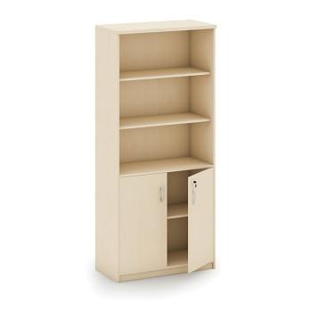 Kancelářská skříň, 1800x 800x400, bříza, kombi/křídlové, MIRELLI A+
