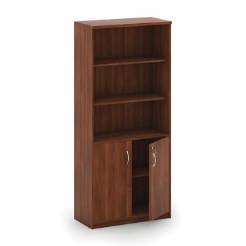 Kancelářská skříň, 1800x 800x400, ořech, kombinovaná, MIRELLI A+