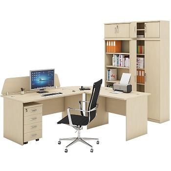 Pracovní místo z nábytku MIRELLI A+, typ A, bříza