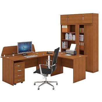 Pracovní místo z nábytku MIRELLI A+, typ A, třešeň