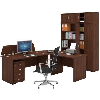Pracovní místo z nábytku MIRELLI A+, typ A, ořech