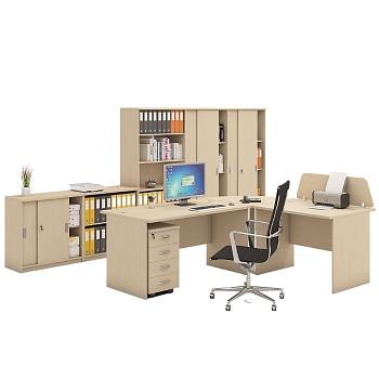 Pracovní místo z nábytku MIRELLI A+, typ B, bříza