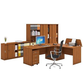 Pracovní místo z nábytku MIRELLI A+, typ B, třešeň