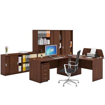 Pracovní místo z nábytku MIRELLI A+, typ B, ořech