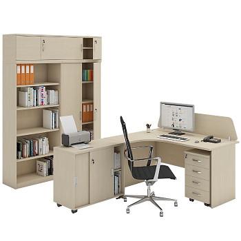 Pracovní místo z nábytku MIRELLI A+, typ C, bříza