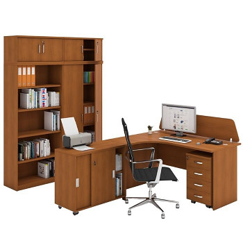 Pracovní místo z nábytku MIRELLI A+, typ C, třešeň
