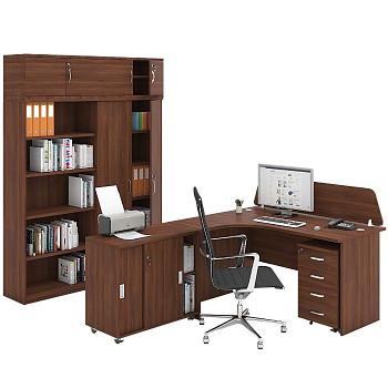Pracovní místo z nábytku MIRELLI A+, typ C, ořech