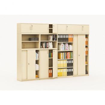 Sestava kancelářského nábytku MIRELLI A+, typ D, bříza