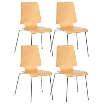 Dřevěná židle TORONTO, přírodní 4 ks