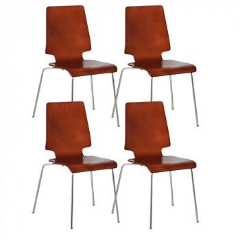 Dřevěná židle TORONTO, ořech 4 ks