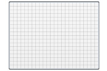 Bílá keramická popisovací tabule 1200x1000 mm, čtverce/rastr