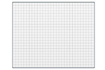 Bílá keramická popisovací tabule 1500x1200 mm, čtverce/rastr