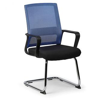 Konferenční židle LOW, modrá