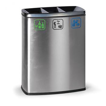 Koš na tříděný odpad  3x26 l nerezový